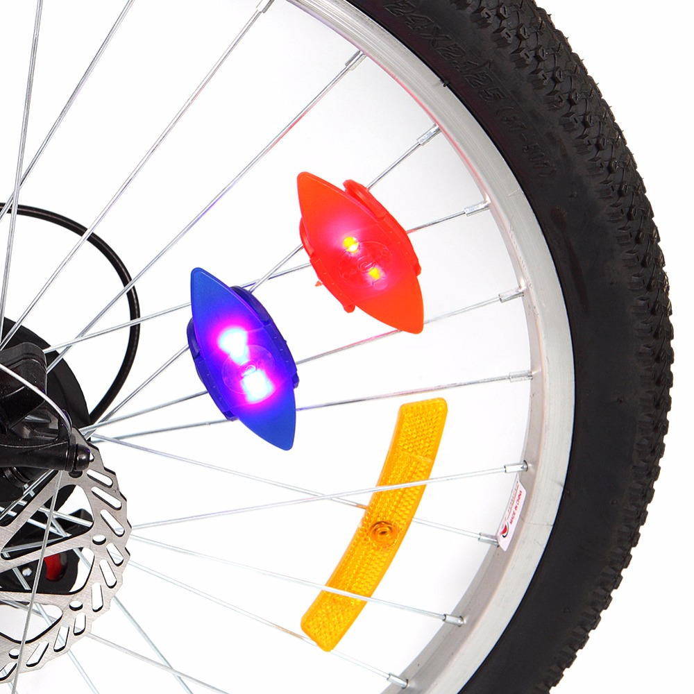 Newest 2018 Bike Bicycle Wheel Spokes Lights Lamps 1 PCS Cycling Riding Spokes Light Wit ...