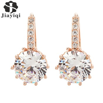 2018 New Vintage Earrings Rose Gold Crystal CZ Bling Drop Earrings for Women Girls Christmas Gfit Fashion Wedding Jewelry 1