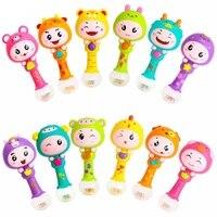 1PCS SET Plastic Dynamic Rhythm Stick Hand Rattles Kids Musical Party Favor Child Baby Shaker Sand