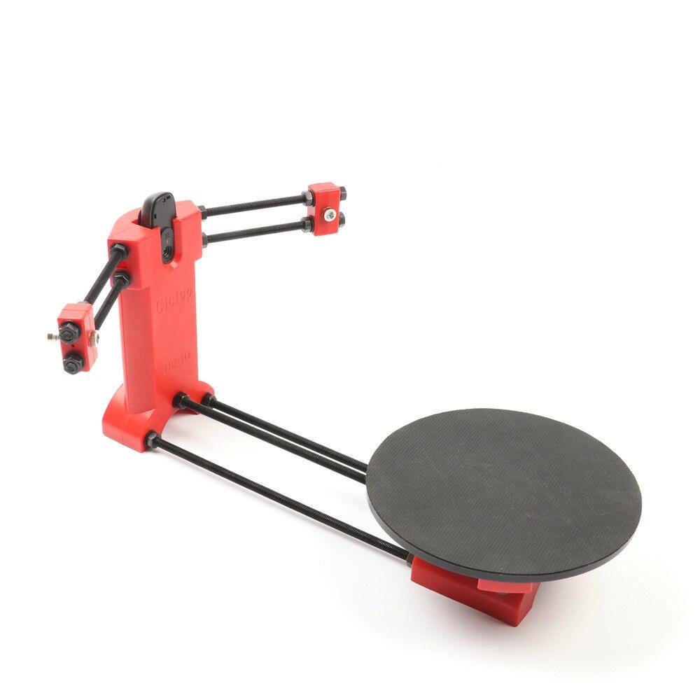HE3D Open source kit DIY 3D scanner, scanner a laser avançada peças de moldagem por injeção de plástico Vermelho