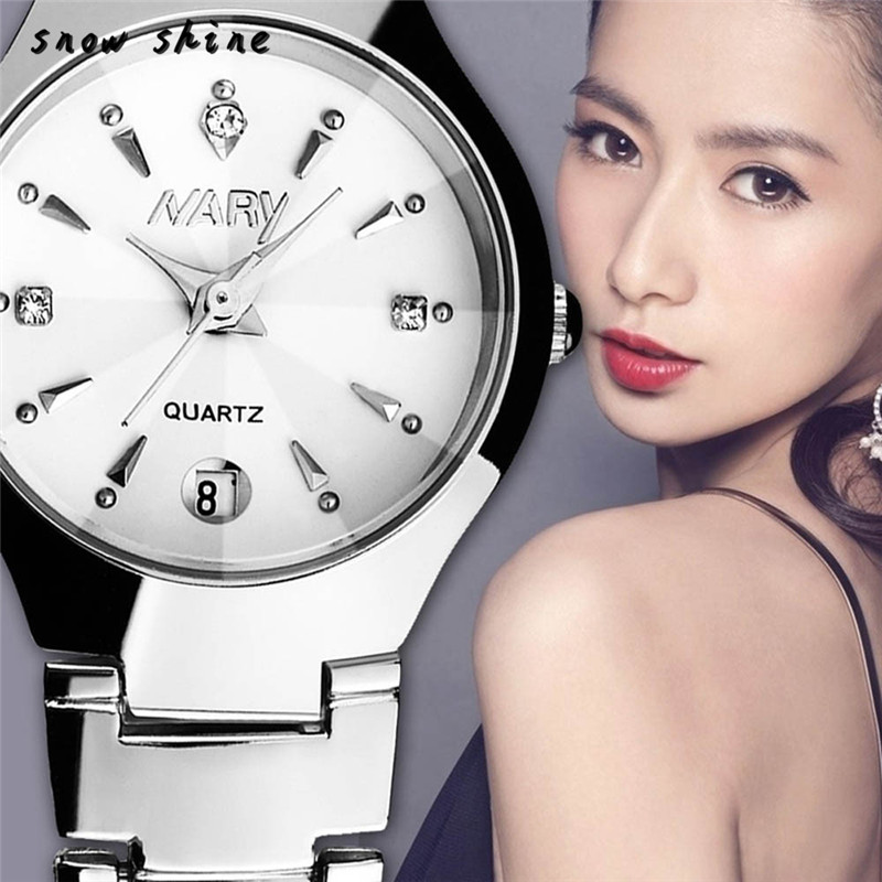 snowshine 10xin 1PC Luxury Women Single Calendar Quartz Stainless Steel Date Wrist font b Watches b