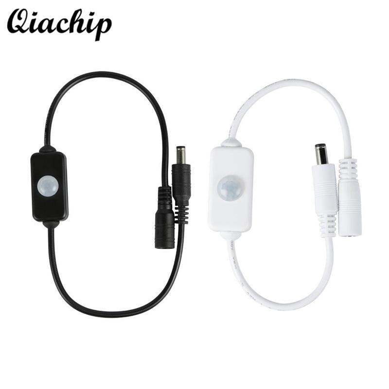 цена на QIACHIP Mini DIY DC 12V 24V 3A PIR Body Infrared Sensor Detector Time Adjustable Small Motion Sensor Smart Switch For LED Strip