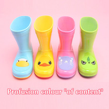 BBK New fashion girls rainboots kids flats child rain boots  children overshoes boys water shoes slip-resistant