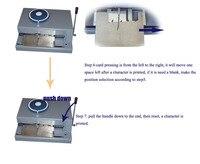 Manual press metal plate card embosser printer machine 41character for making metal plate make max 120mm x 100mm