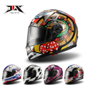 JIX повезло мотоциклетный шлем Двойной линзы анфас мотоцикл автопробег шлем