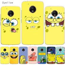 Uyellow SpongeBob SquarePants Phone Cover For Motorola G4 G5 G5S G6 G7 E4 E5 Plus Play Case Moto Power Silicone TPU Coque