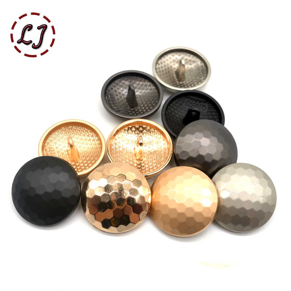 Hoge Kwaliteit 10 Stks/partij Nieuwe Mode Decoratieve Knoppen Goud Bol Mozaïek Metalen Naaien Knop Voor Vrouwen Mannen Overjas Overhemd Diy