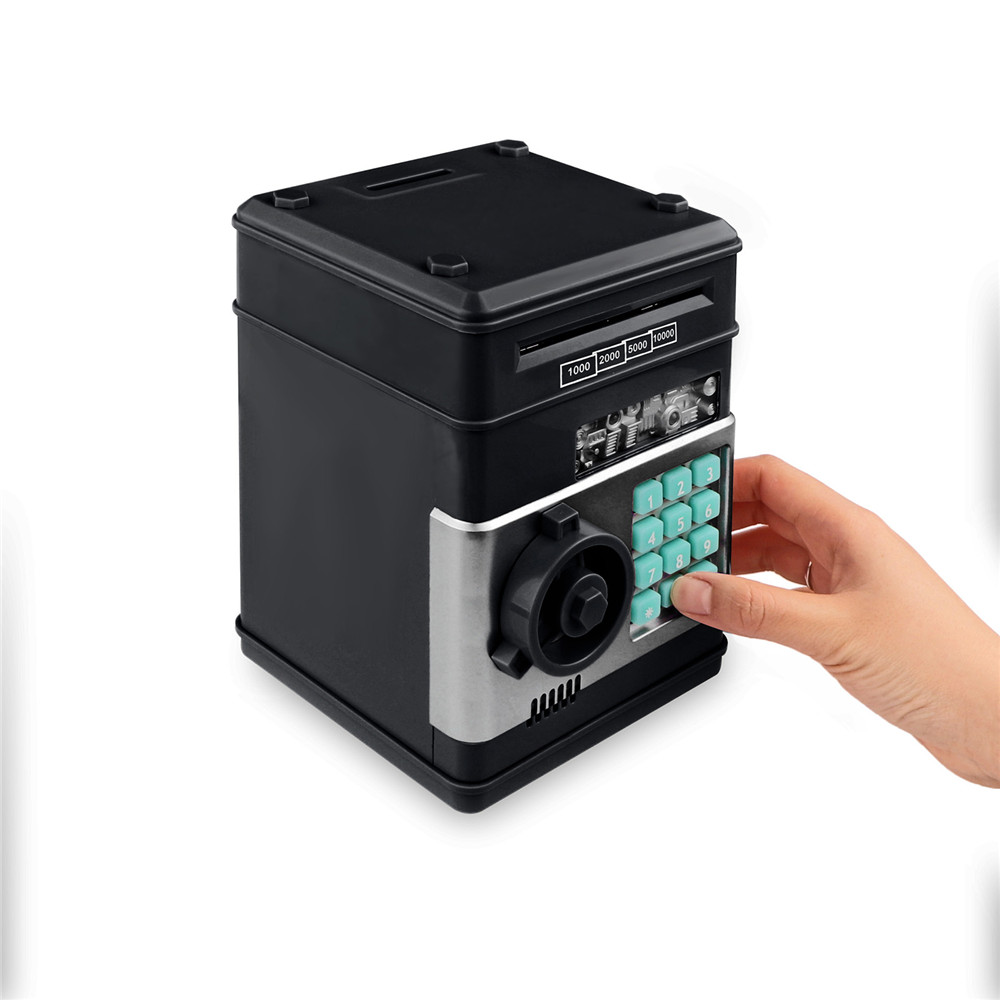 Electronic Piggy Bank ATM Password Money Box Cash Coins Saving Box ATM Bank Safe Box Automatic Deposit Banknote Christmas Gift 2