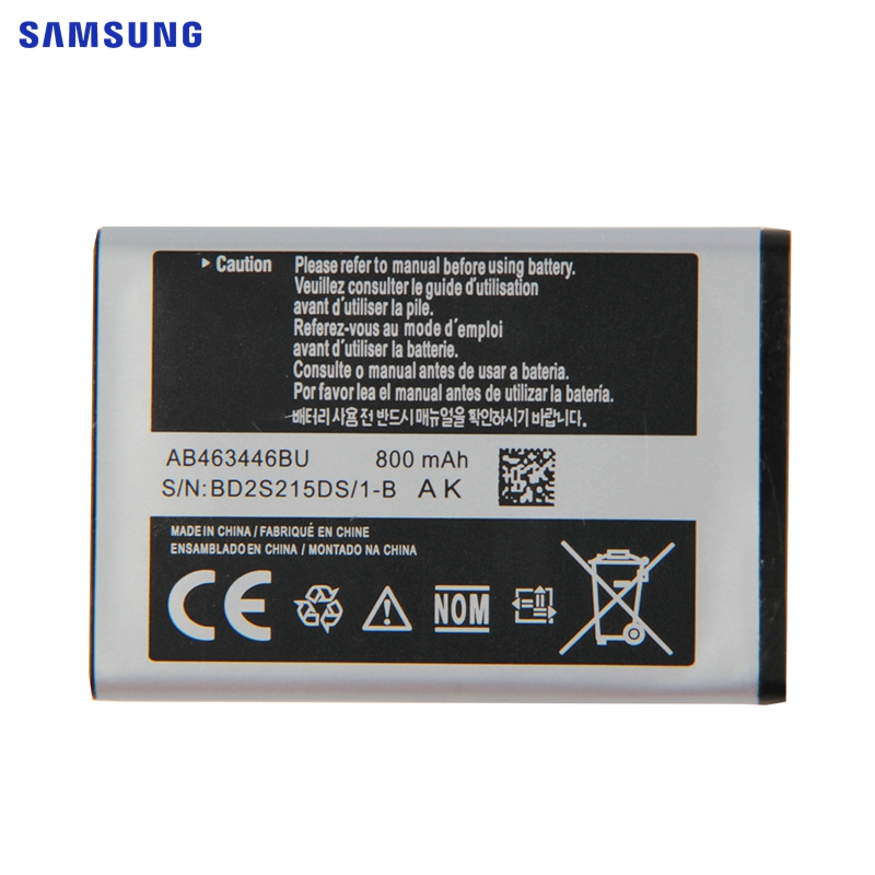 SAMSUNG Bateria Original AB463446BU AB043446BE AB553446BC Para Samsung C3300K X208 B309 F299 E2330 E1190 SCH-E339 GT-C3520 X160