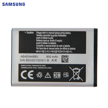 SAMSUNG Original Replacement Battery AB463446BU For Samsung C3300K X208 B189 B309 F299 Genuine Phone 800mAh