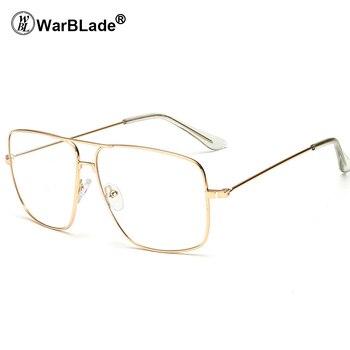 Retro Gold Metal Frame Vintage Clear Lens Glasses