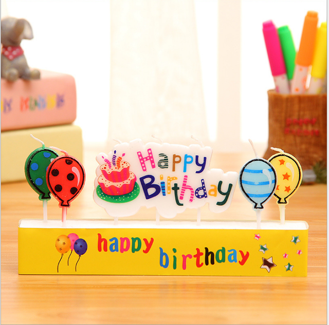 Happy Birthday Candles Toothpick Cake Party Decor Colorful Cute Letters