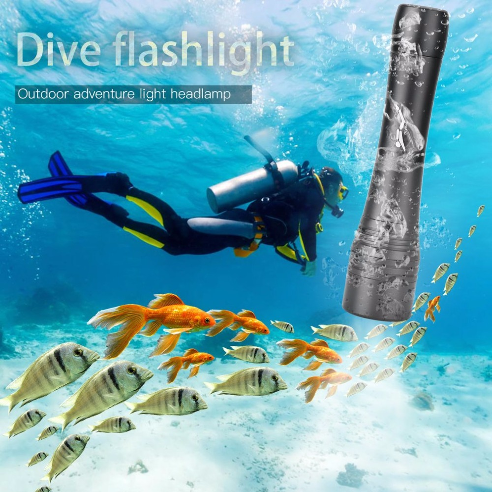 200M Waterproof Underwater Diving Swimming Torch LED Lamp Outdoor Hunting climbing, camping Activities Self-defense flashlight