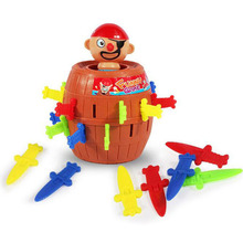 Toy Funny Strange uncle stab pirate bucket toy cask barrel plug  Pirate Jokes games sword cask crisis toys Hot Party Game