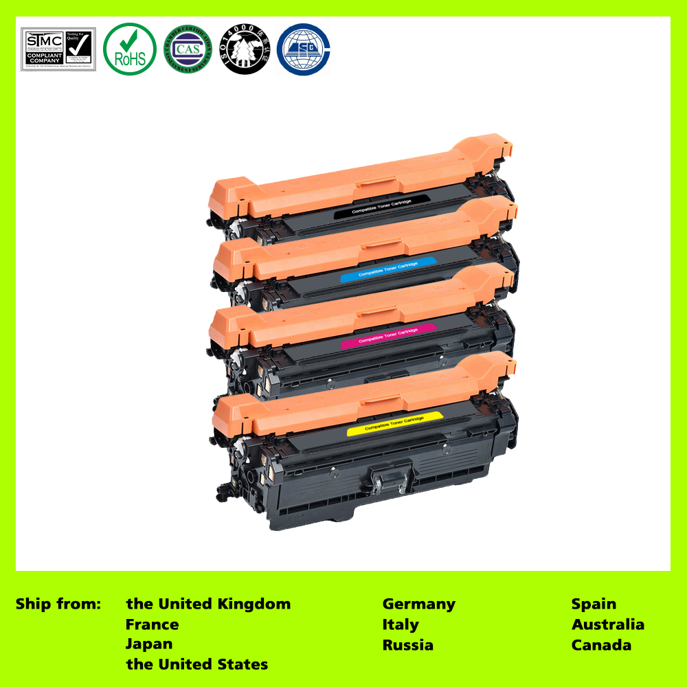 US $300 53 20% OFF|Compatible for 651A CE340A CE341A CE342A CE343A (4 Pack  Black Cyan Magenta Yellow) Toner Cartridge for HP PRO 700/M775-in Toner