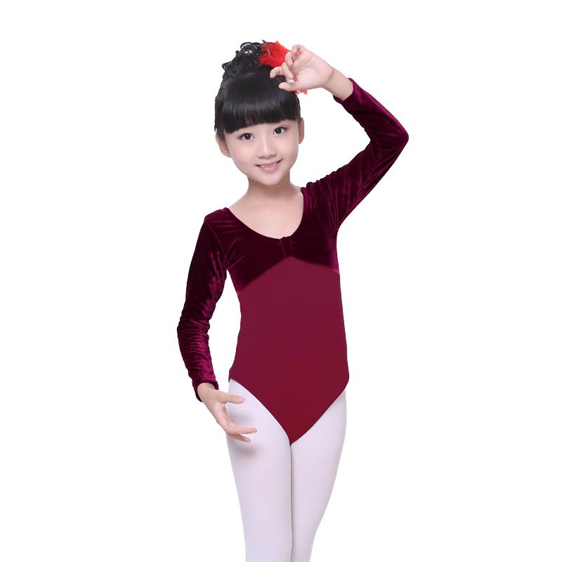 a3c9668f2db0 New Arrival Six Colors Velvet Cotton Gymnastics Leotard Girls Toddler Long  Sleeve Ballet Dance Leotard-in Ballet from Novelty & Special Use on ...
