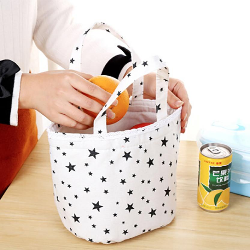 Storage Bag Linen Cooler Lunch Bags For Women Kids Men Thermal Insulated Container Organize Case 18JAN31