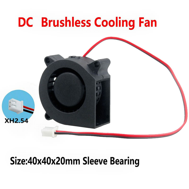 Gdstime 2 Pcs DC 24v 2Pin 4cm 40mm X 20mm Small Cooling Blower Fan Turbo Cooler 40x20mm 4020