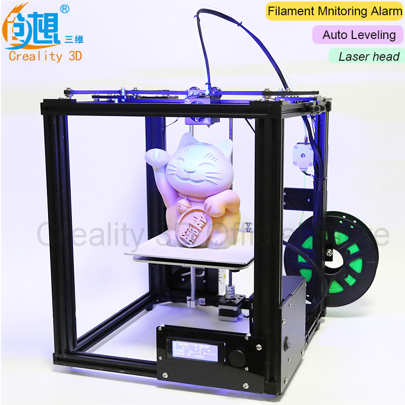 Core-XY V-Slot Frame CREALITY 3D Auto Leveling 3D Printer Ender-4 Laser 3D Printer Kit Filament Monitoring Alarm Protection creality cheap ender 2 3d printer kit fdm 3d printer diy kit aluminium frame with heated bed cost effective in high quality