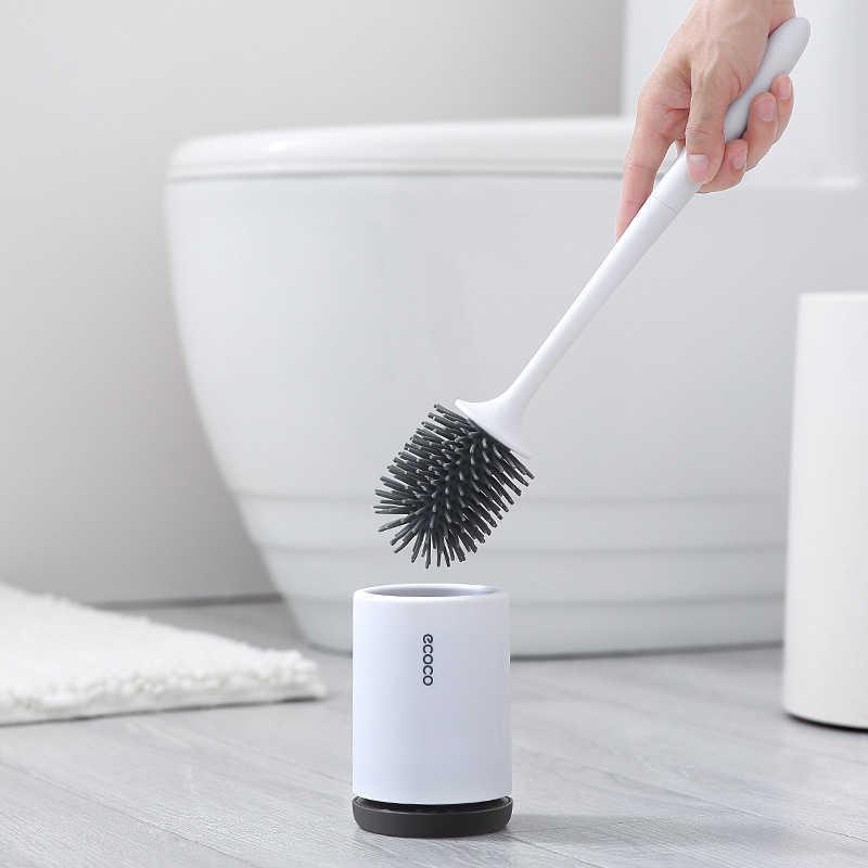 Силиконовая туалетная щетка с держателем набор пластиковый ершик настенный или напольный очиститель для туалета щетка