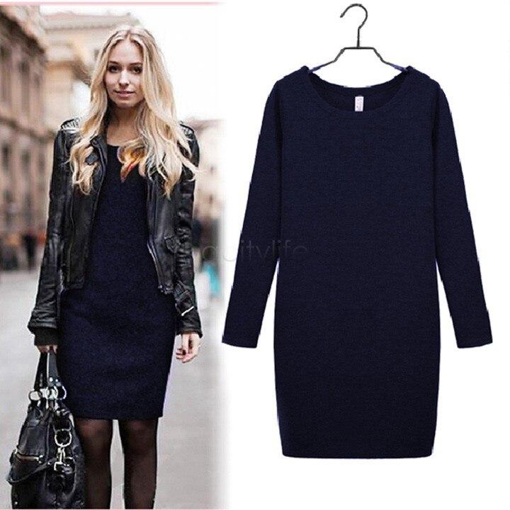 High Quality 2018 New Autumn Women Velvet Dress Long-Sleeve Slim Clothed Female Clothes ,M-XXL 3 Colors 24