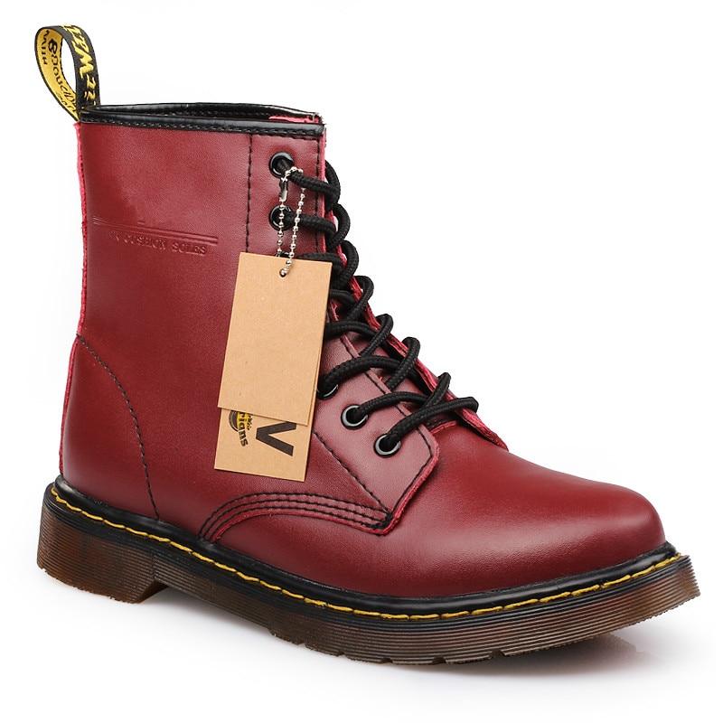 New arrivals men boots. Dr martens women boots split Leather Women Boots  snow shoes Motorcycle Autumn Winter shoes woman snow Boots botas negras  mujer 370b2a7c03e2