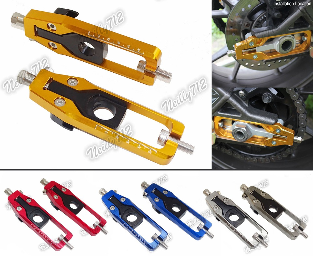 waase CNC Aluminum Chain Adjusters Tensioners Catena For Yamaha MT-09 FZ-09 FJ-09 MT FZ FJ 09 2013 2014 2015 2016
