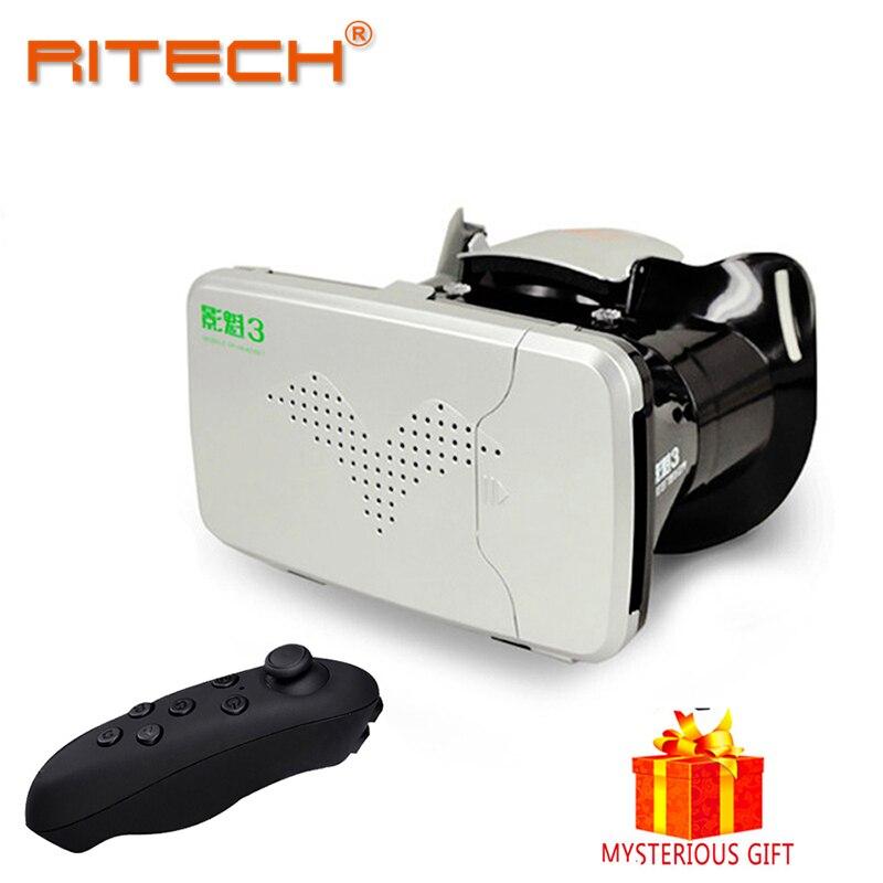 RITECH III <font><b>VR</b></font> <font><b>Box</b></font> Vrbox Casque Video <font><b>3</b></font> D Gerceklik Google Cardboard <font><b>Virtual</b></font> <font><b>Reality</b></font> Goggles 3D <font><b>Glasses</b></font> Smartphone Helmet Headset