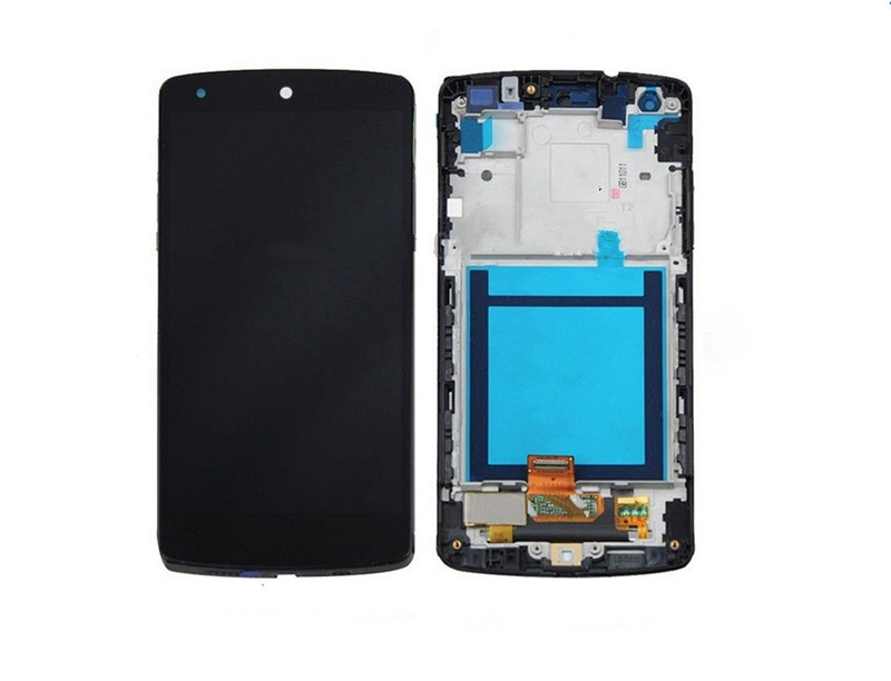 for OEM LG Google Nexus 5 D820 D821 LCD Touch Digitizer Screen Assembly With Frame new lcd touch screen digitizer with frame assembly for lg google nexus 5 d820 d821 free shipping