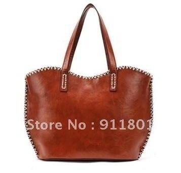 Free shipping 2013new women high quality PU leather vintage fashion handbags wristles shoulder bags tote handbag totes wholesale