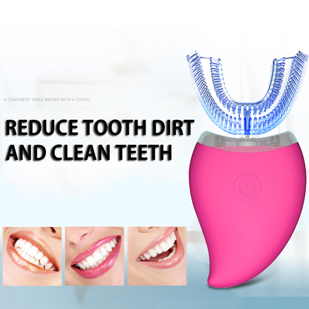 Ultrasonic Automatic Toothbrush USB Charging 360 Degrees Sonic Electric Tooth Teeth Whitening  Dental Clean