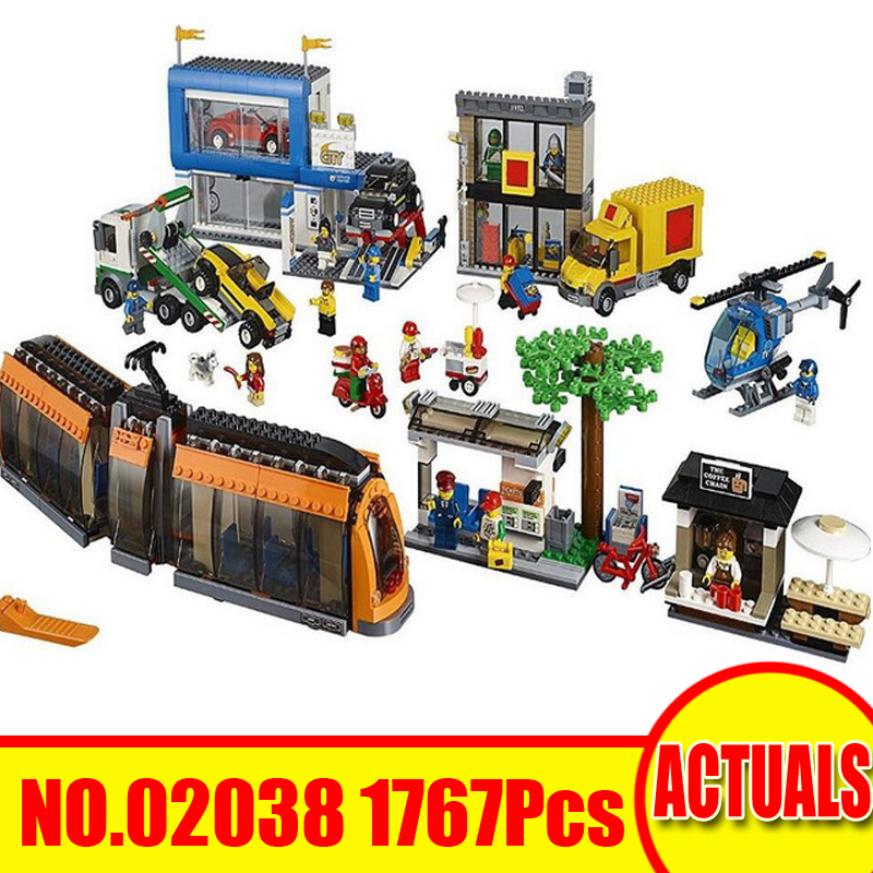 1767Pcs 02038 Lepin Technic Figures City Square Model Kits Building Blocks Bricks Set Educational Toy Gift Compatible With 60097 lepin 02038 1767pcs geuine city series city square model building blocks bricks educational toys for children 42070