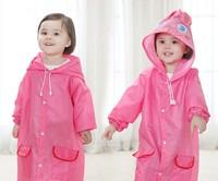 100 шт./лот милое детское пальто, непромокаемая одежда, непромокаемый костюм, дети Водонепроницаемый животных плащ 5 цветов детский дождевик