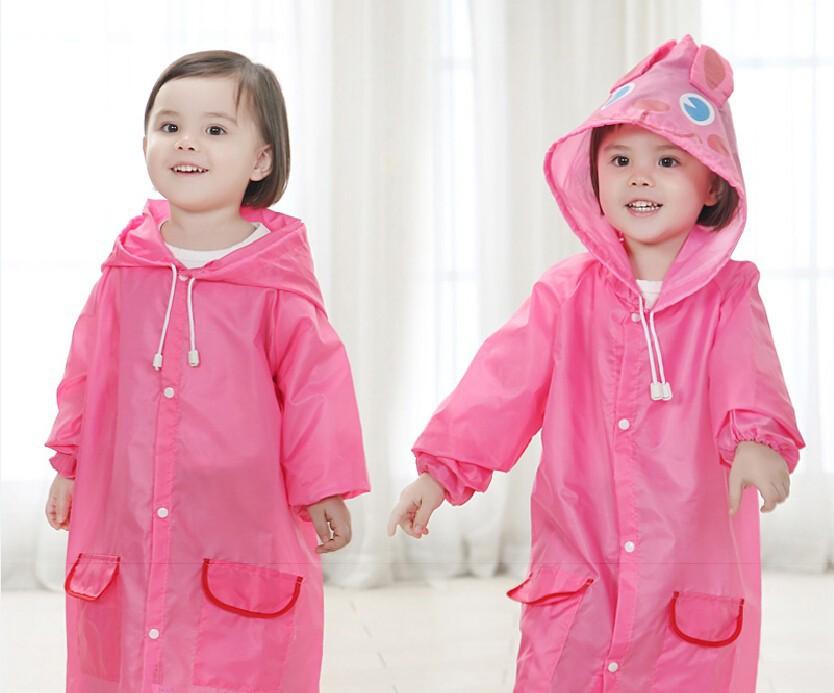 100pcs/lot cute children Raincoat Rainwear/Rainsuit,Kids Waterproof Animal Raincoat 5 kinds of color Kids Rain Coat