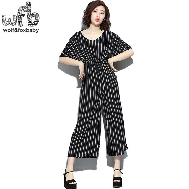 Las mujeres embarazadas de gran tamaño de la raya vertical de cintura alta pantalones anchos de la pierna pantalones primavera verano otoño tamaño libre