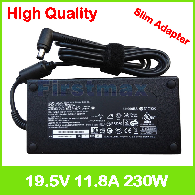 19.5 V 11.8A 230 W ordinateur portable chargeur ADP-230EB T ac adaptateur pour MSI GE63VR GE73VR 7RF Raider GT72 2PE 6QE GT72S MS-1782 Dominator Pro