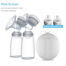 2017 Upgrade version Double electric breast pumps Free two Nipple Powerful Suction DIY breast pump with baby milk bottles