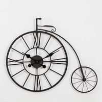 Creative Hollow Metal Iron Art Bicycle Wall Clock Vintage Decoration Adornment Crafts Quartz Needle Hanging Wall Clocks Watch