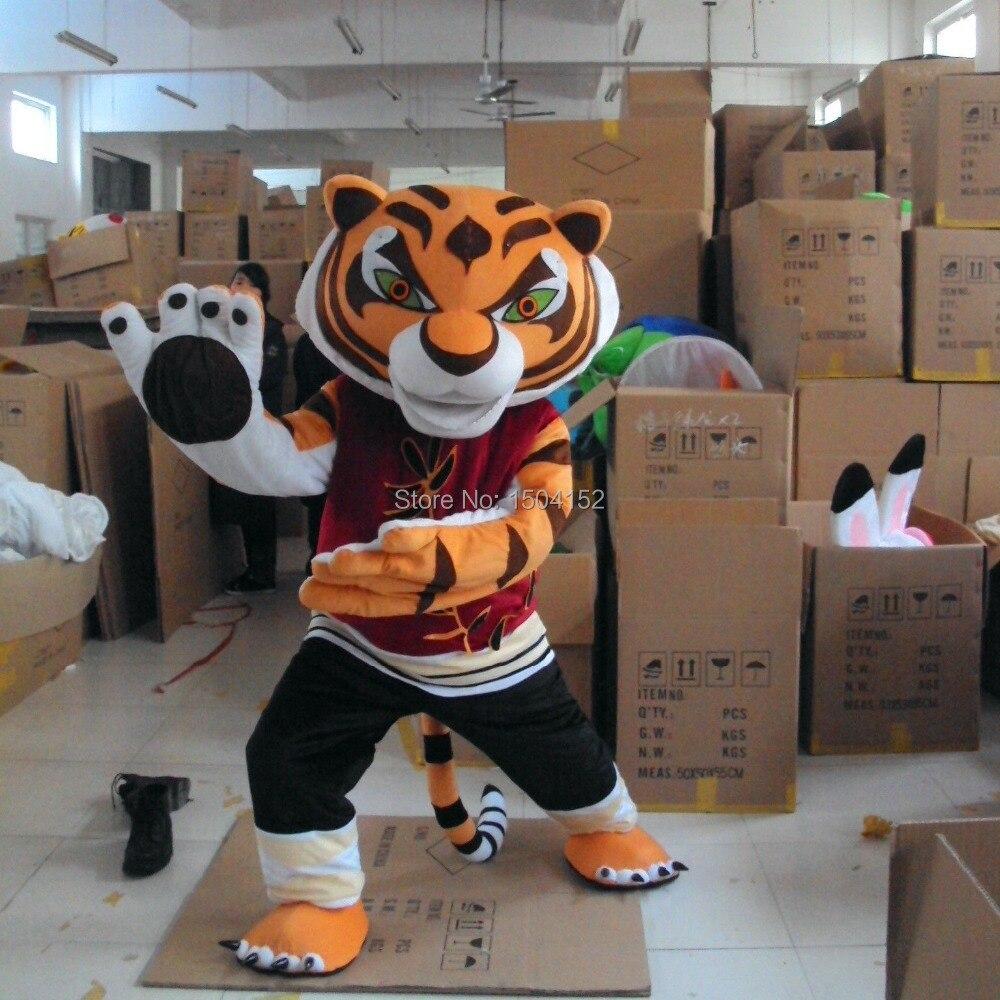 tigress tiger kung fu panda friend crtoon mascot adult costume sales free shipping - Tigress Halloween Costume