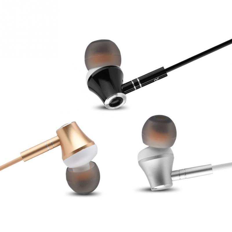 3.5mm Stylish Metal In-ear Wired Music Earphones