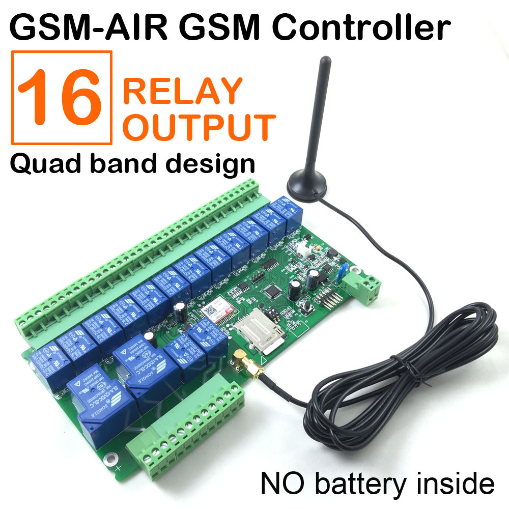 Gsm relais sms appel télécommande gsm ouvreur de porte commutateur pour appareil ménager de contrôle moteur de pompe à eau de porte de roulement sur off