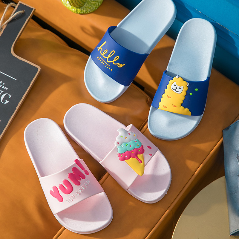 Cute Animal Summer Slippers Sheep Bee Beetle Women Slides Cartoon Cat Home Slippers Slip On Sandals Women Shoes Flip FlopsCute Animal Summer Slippers Sheep Bee Beetle Women Slides Cartoon Cat Home Slippers Slip On Sandals Women Shoes Flip Flops