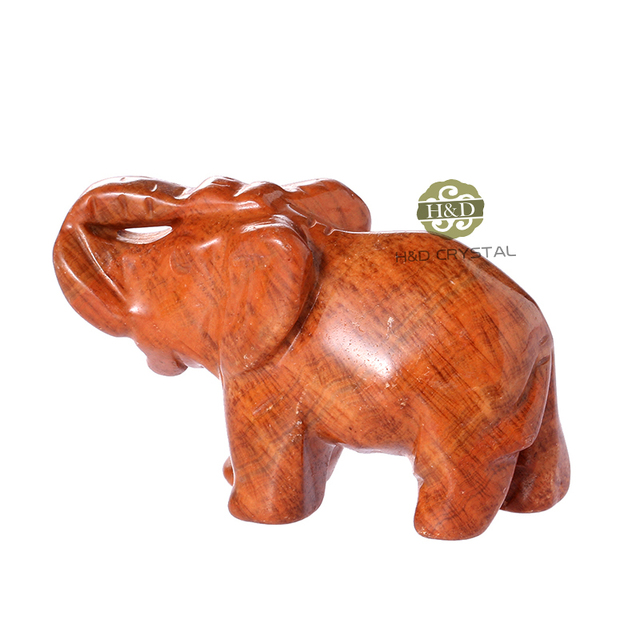 2inch Elephant Natural Stone Carved Figurine Chakra Bead Healing Crystal  Reiki Feng Shui Free Pouch High