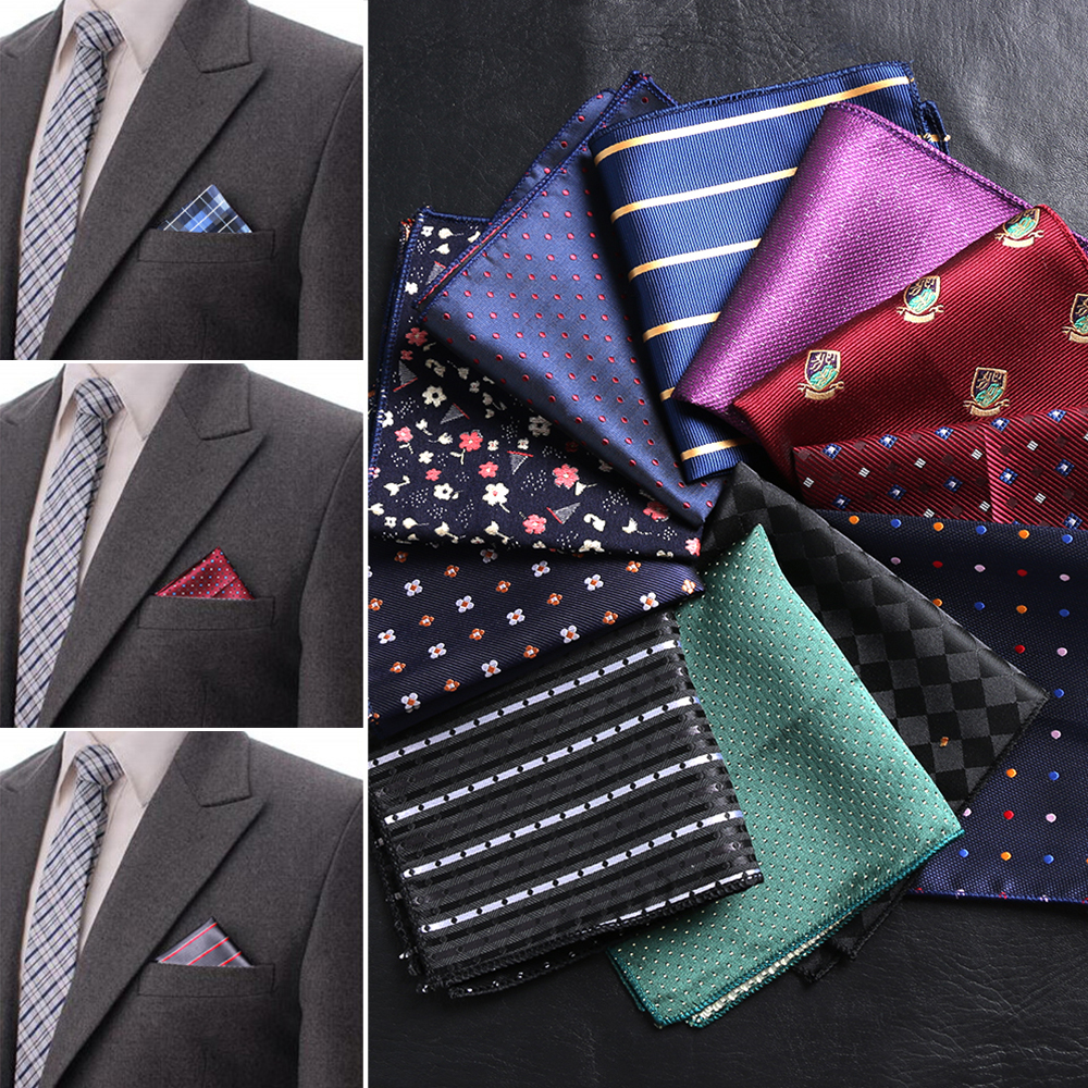 Classic Men/'s Pocket Square Handkerchief Vintage Polka Dot Cotton Suit Hankies