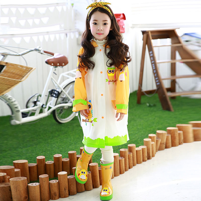 Children Plastic Raincoat Rain Coat Kids Boys Poncho Girl Rainwear Cape De Pluie Women Waterproof Kids Raincoat Sets QQG395