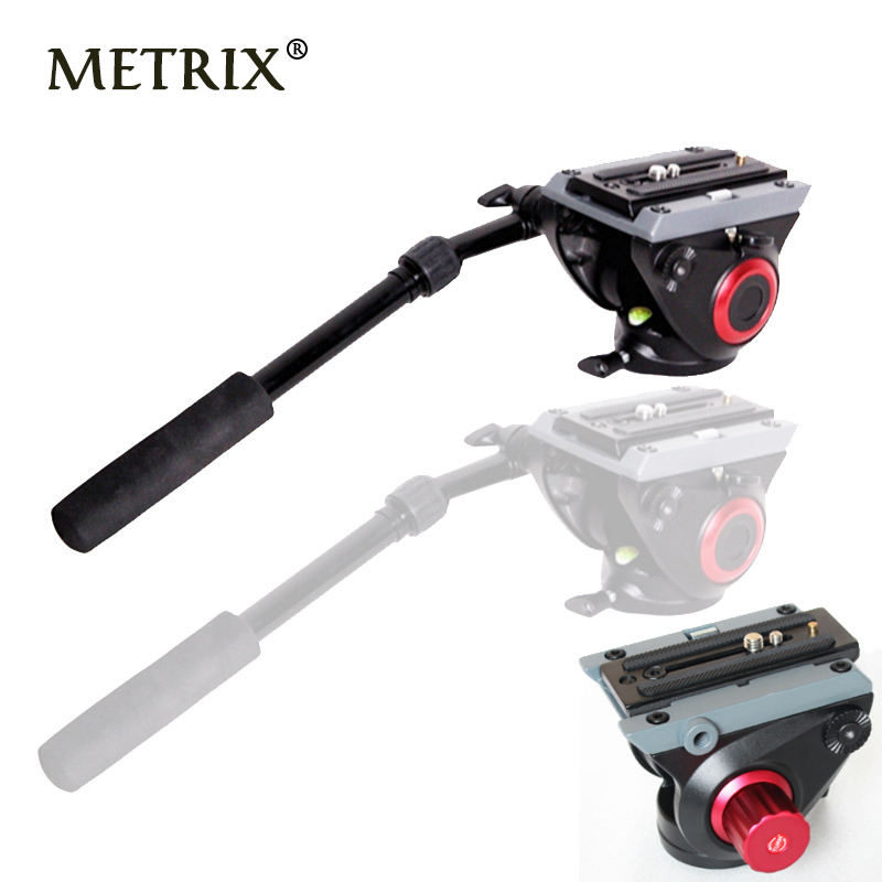 Video Camera Damping Fluid Tripod Head Hydraulic Head for Slider Monopod DSLR Camera Shooting Video MTX718 for Manfrotto 500AH 360┬░ two handle hydraulic damping three dimensional tripod head for camera black