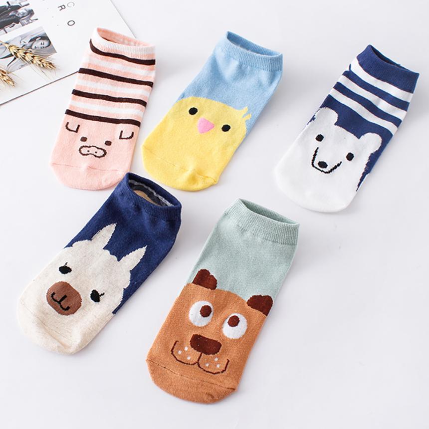 MUQGEW Wholesale & Retail Women   Socks   Comfortable Smile Cartoon Cute   Sock   Slippers Short Flawless Novel Funny Style Ankle   Socks