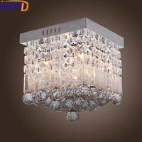 IWHD Stainless Steel Modern LED Crystal Ceiling Lights Fixtures Home Lighting Living Room Light Lustres De