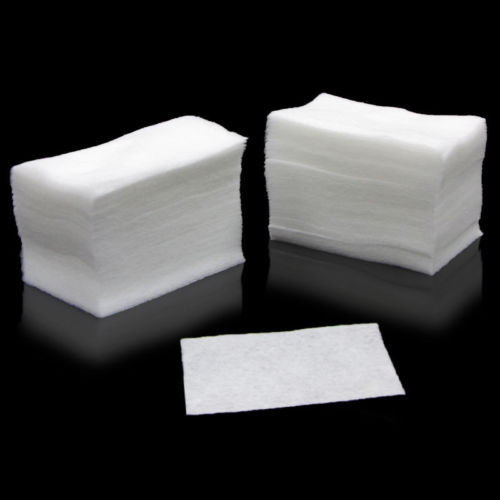 1Pack of 100pcs White Nail Art Wipes UV Gel Nail Polish Remover Cleaner Wipe Cotton Lint