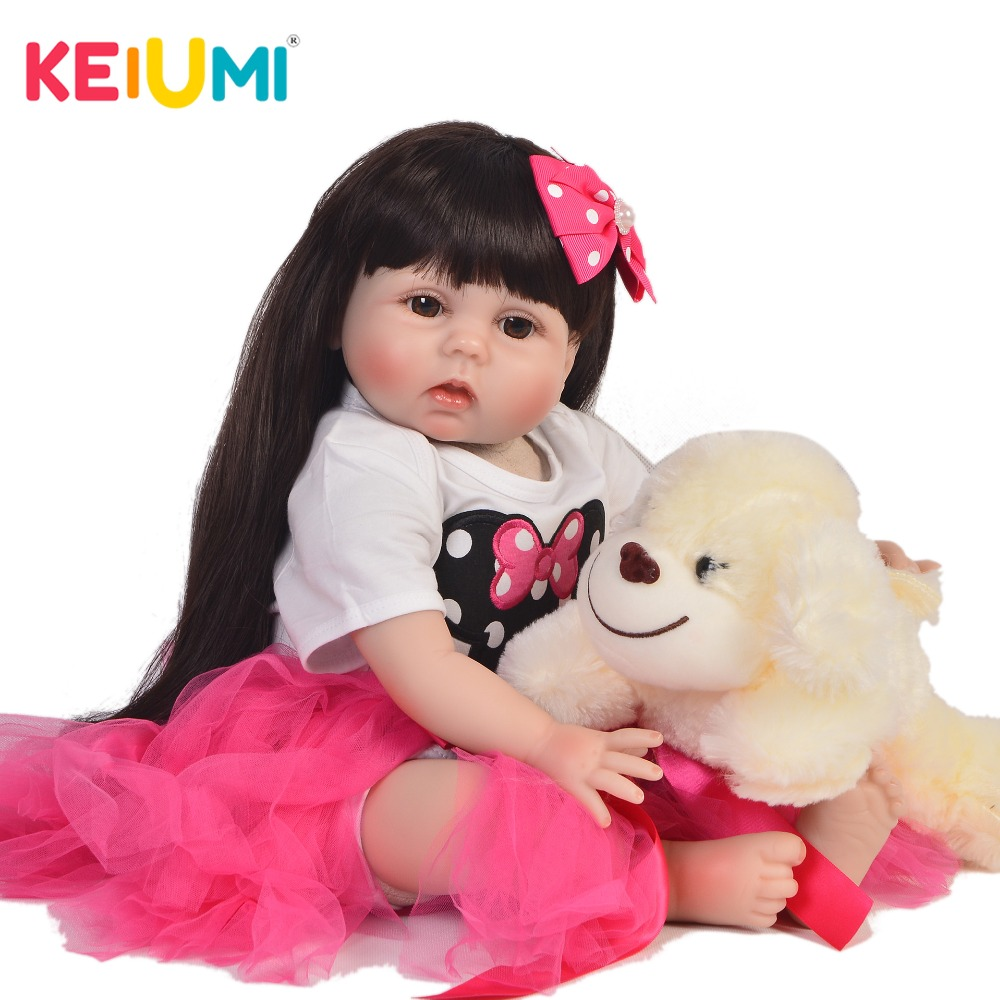KEIUMI Princess 22 Inch Newborn Baby Doll Cloth Body Realistic Cute Baby Doll Toy For Children's Day Kid Birthday Bdetime Gifts keiumi cute 22 inch reborn baby doll cloth body realistic fashion princess baby doll toy for children s day kid xmas gifts